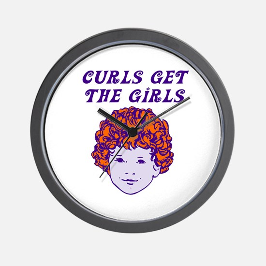 Curls Get The Girls Wall Clock