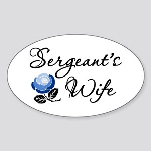 Sergeant's Wife Oval Sticker