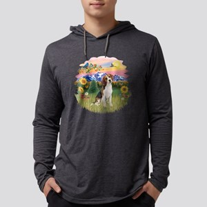Mountain Country - Beagle 1 Mens Hooded Shirt