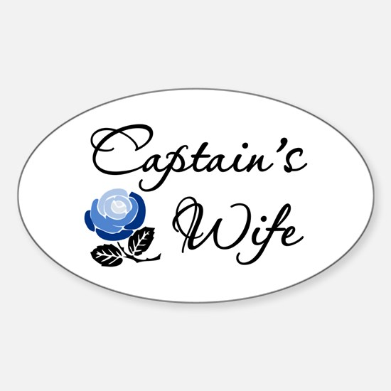 Captain's Wife Oval Decal