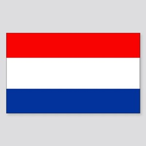 Dutch (Netherlands) Flag Rectangle Sticker