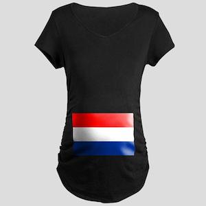 Dutch (Netherlands) Flag Maternity Dark T-Shirt