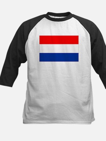 Dutch (Netherlands) Flag Kids Baseball Jersey