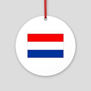 Dutch (Netherlands) Flag Ornament (Round)