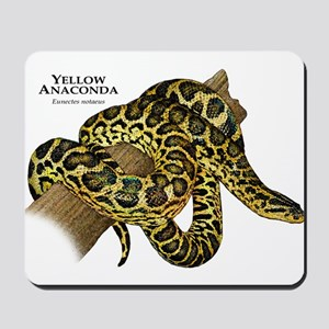 Yellow Anaconda Mousepad