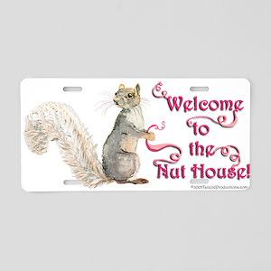Squirrel Nut House Aluminum License Plate