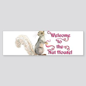 Squirrel Nut House Sticker (Bumper)