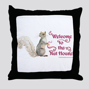 Squirrel Nut House Throw Pillow