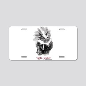 Skunk Little Stinker Aluminum License Plate