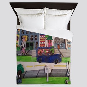 TRANSPORTATION AWARENESS Queen Duvet