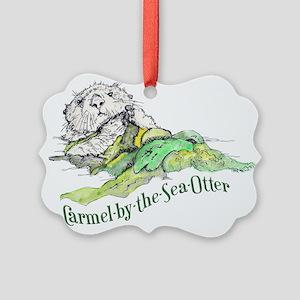 Carmel Sea Otter Picture Ornament