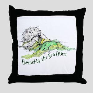 Carmel Sea Otter Throw Pillow