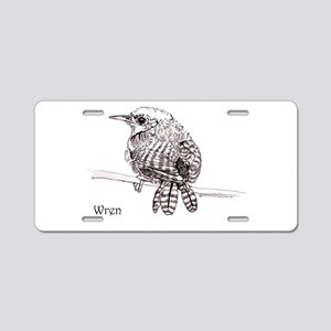Little Brown Wren Aluminum License Plate