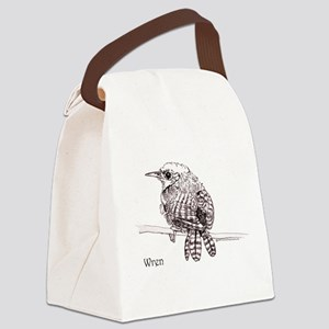 Little Brown Wren Canvas Lunch Bag