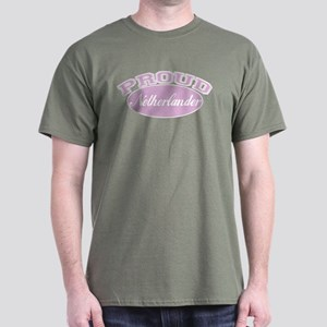 Proud Netherlander (pink) Dark T-Shirt