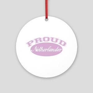 Proud Netherlander (pink) Ornament (Round)