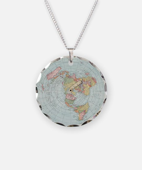 Flat Earth /Gleason's Map 1892 Necklace