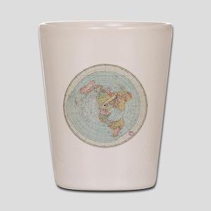 Flat Earth /Gleason's Map 1892 Shot Glass