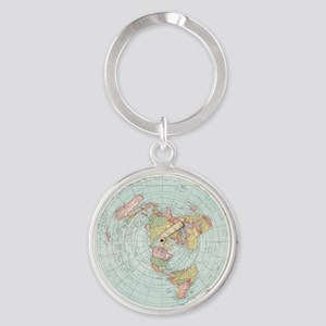 Flat Earth /Gleason's Map 1892 Keychains