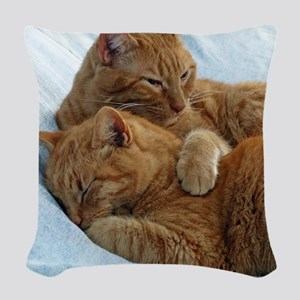 Brotherly Love Woven Throw Pillow