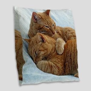 Brotherly Love Burlap Throw Pillow