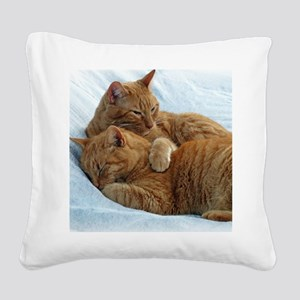 Brotherly Love Square Canvas Pillow