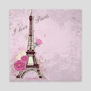 I Love Paris Queen Duvet