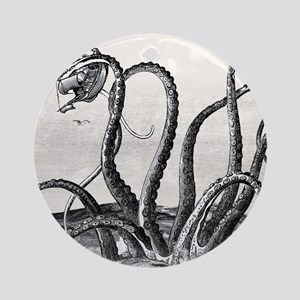 Kraken Attack Round Ornament