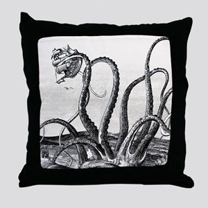 Kraken Attack Throw Pillow