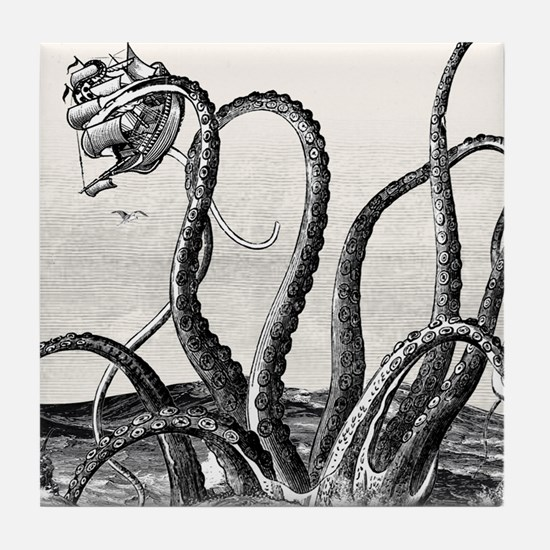 Kraken Attack Tile Coaster