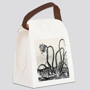 Kraken Attack Canvas Lunch Bag