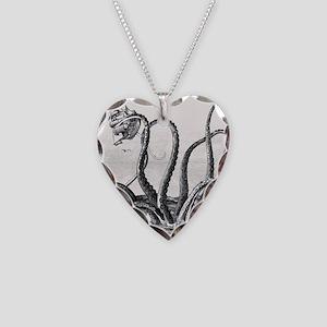 Kraken Attack Necklace Heart Charm