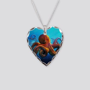 Octopus Necklace Heart Charm