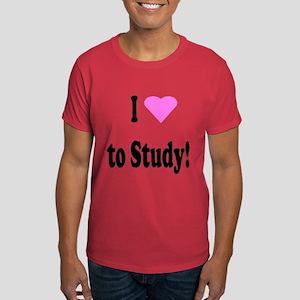 I Heart (Love) to Study Dark T-Shirt