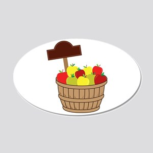 Basket Of Apples Wall Decal