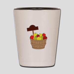 Basket Of Apples Shot Glass