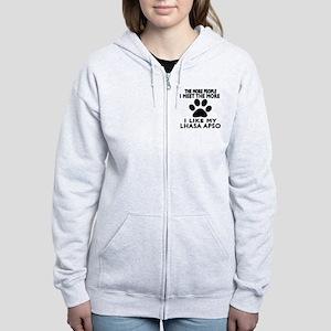 I Like More My Lhasa Apso Women's Zip Hoodie