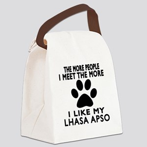 I Like More My Lhasa Apso Canvas Lunch Bag