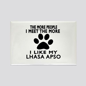I Like More My Lhasa Apso Rectangle Magnet