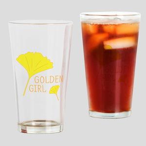 Golden Girl Leaves Drinking Glass