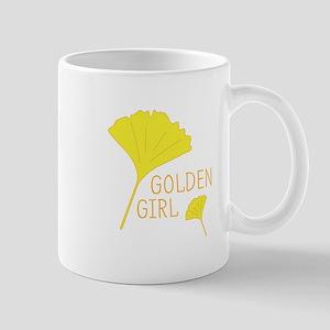 Golden Girl Leaves Mugs