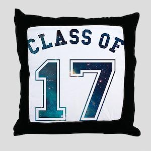 Class of 17 Space Throw Pillow