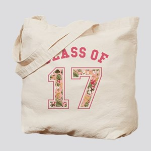 Class of 17 Floral Pink Tote Bag