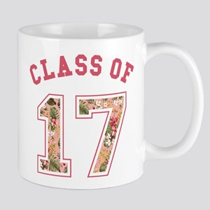 Class of 17 Floral Pink Mugs