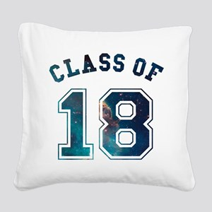 Class of 18 Space Square Canvas Pillow