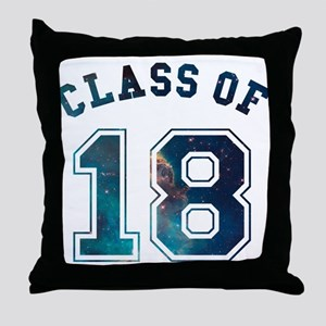 Class of 18 Space Throw Pillow