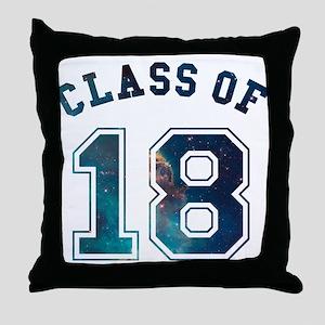 Class of 18 Space Throw Pillow