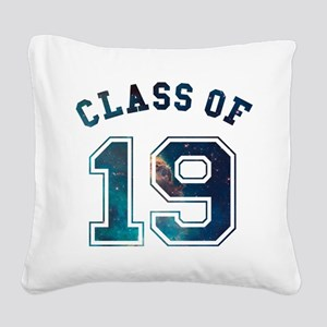 Class of 19 Space Square Canvas Pillow