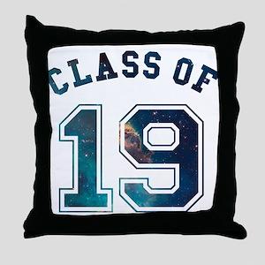 Class of 19 Space Throw Pillow
