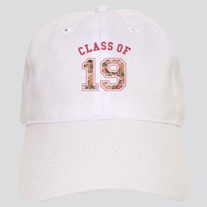 Class of 19 Floral Pink Baseball Cap
